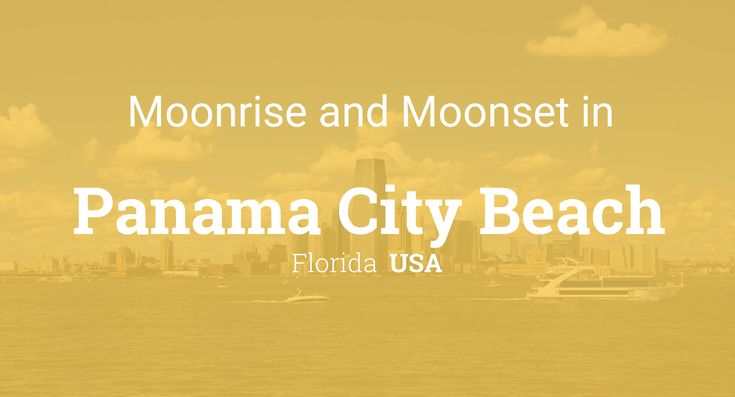 Moonrise, Moonset, and Moon Phase in Panama City Beach, January 2018