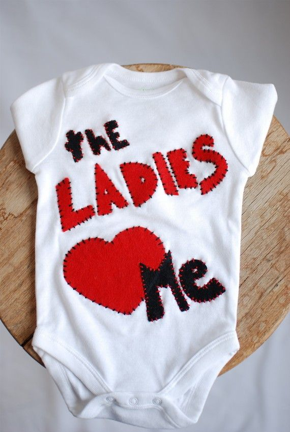 Such a cute onesie for Valentine's day (and any other day too)!