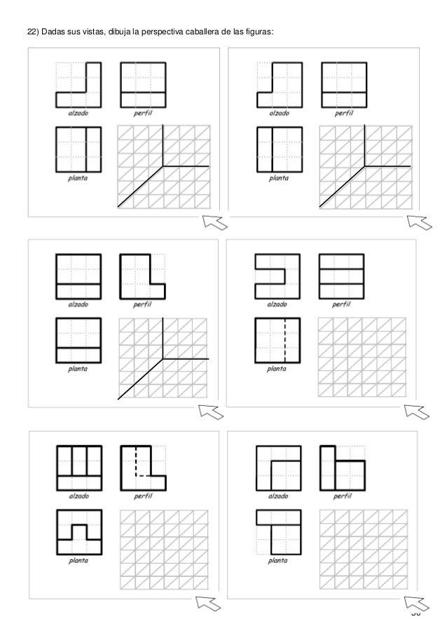 Resultado De Imagen De Vistas Para Perspectivas Perspectiva Caballera Vistas Dibujo Tecnico Tecnicas De Dibujo