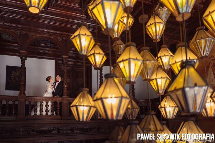 naturalna fotografia ślubna sesja na zamku moszna