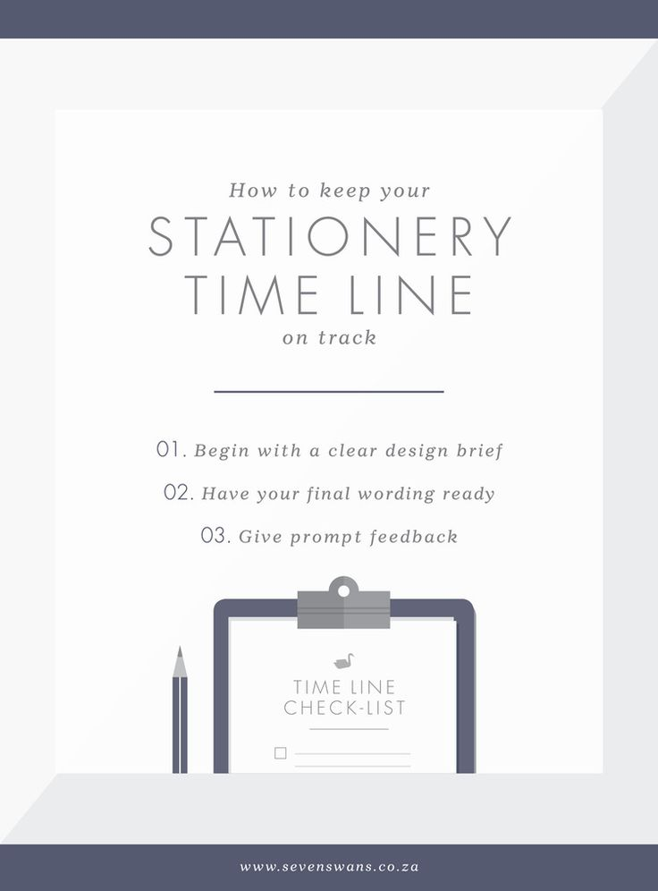 The perfect wedding stationery time line — Seven Swans   Stationery Studio