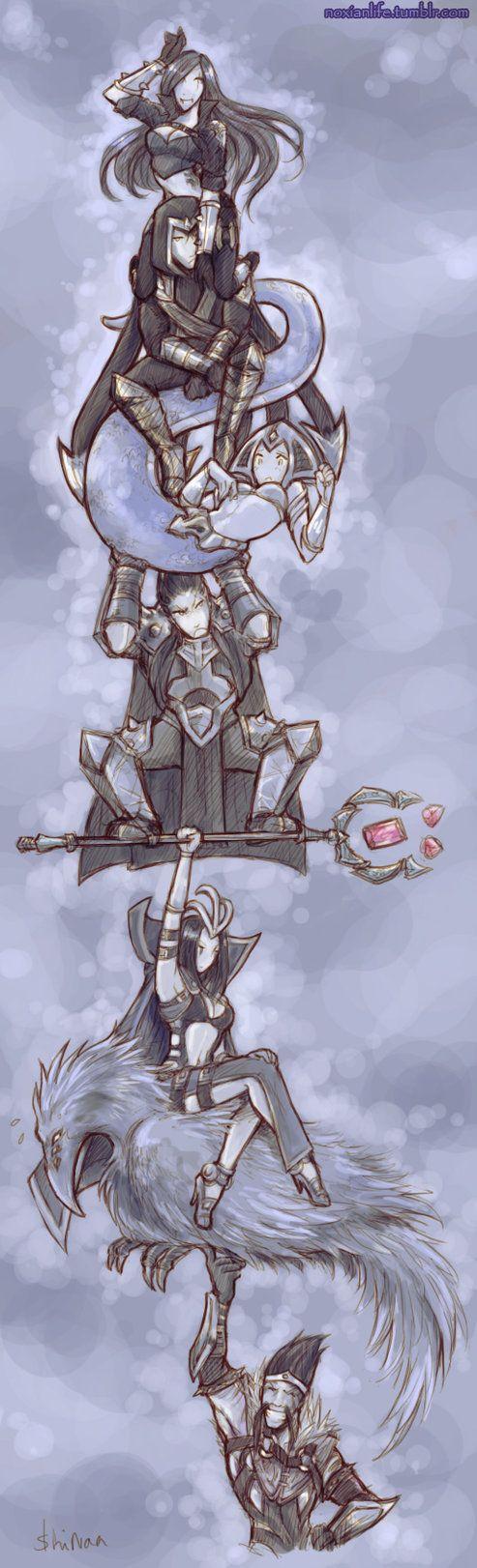 [Noxian Life] Noxian Tower by *ShiNaa on deviantART
