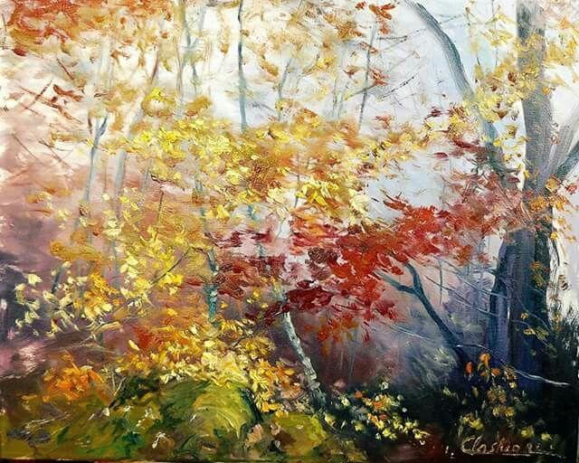 Sous bois en automne Carole Auchet