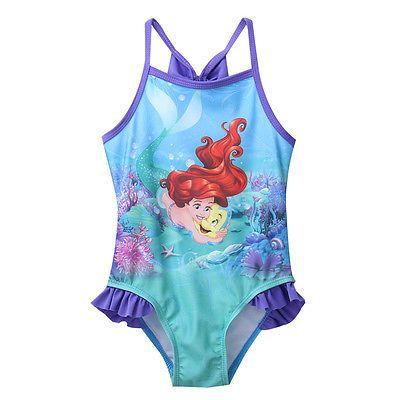 2016 baby Girls Kids one piece swimwear Children Cartoon Swimsuit Swimwear 2-7Y Swim Clothing Sunbath Beachwear Bikini Tankini