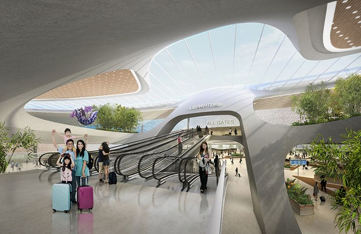 taiwan taoyuan international airport by UNStudio