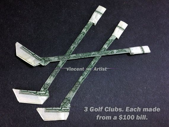 Money Origami Golf Clubs