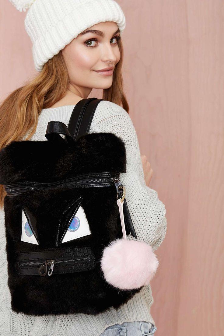 Fur Good Luck Faux Fur Keychain - Pink