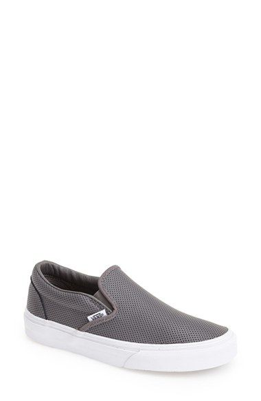 Free shipping and returns on Vans 'Classic' Perforated Slip-On Sneaker (Women) at Nordstrom.com. Perforated leather textures a hot slip-on featuring sleek metropolitan style.