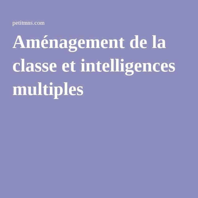 Aménagement de la classe et intelligences multiples