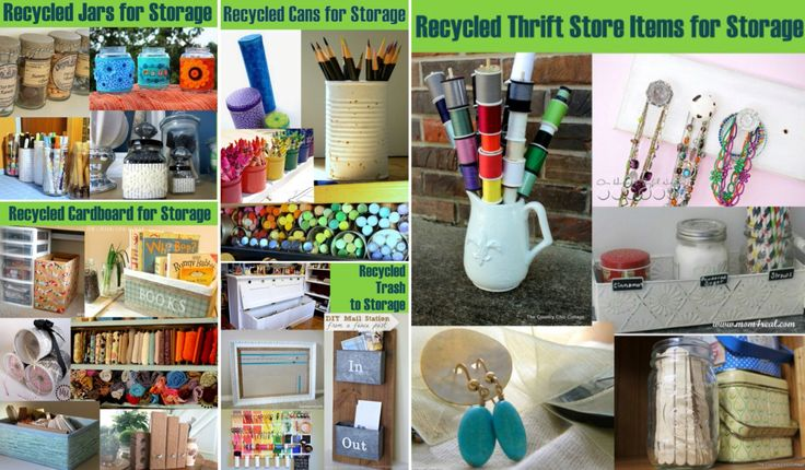'20 Plus Recycled Storage Solutions...!' (via The Country Chic Cottage)