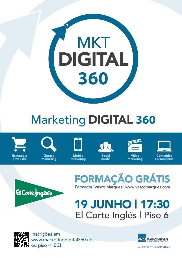 Evento gratuito - Marketing Digital 360- Formação, Consultoria e Networking (presencial e online) #marketingdigital360