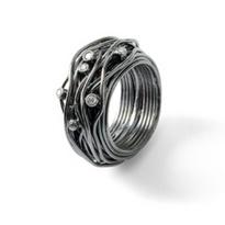 Rabinovich sieraden Rabinovich Ring geoxideerd zilver zirkonia 11303044 QuickJewels