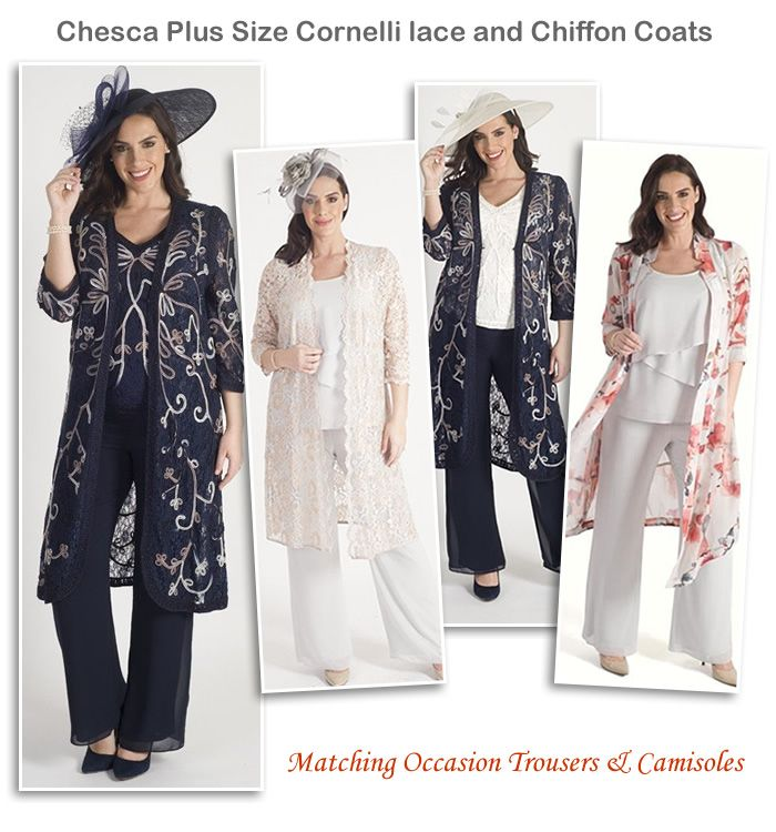 Chesca Mother of the Bride Wedding Coats Matching Trousers and Camisoles