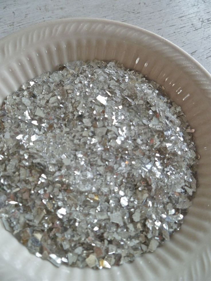 make your own vintage glass glitter