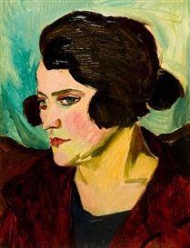 Self-portrait, 1924, Maggie Laubser