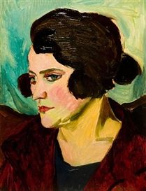 Self-portrait, 1924, Maggie Laubser
