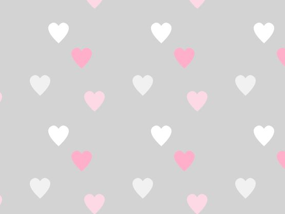 """Approval Hearts"" by jules966 gray, hearts, pink, pinks, white 