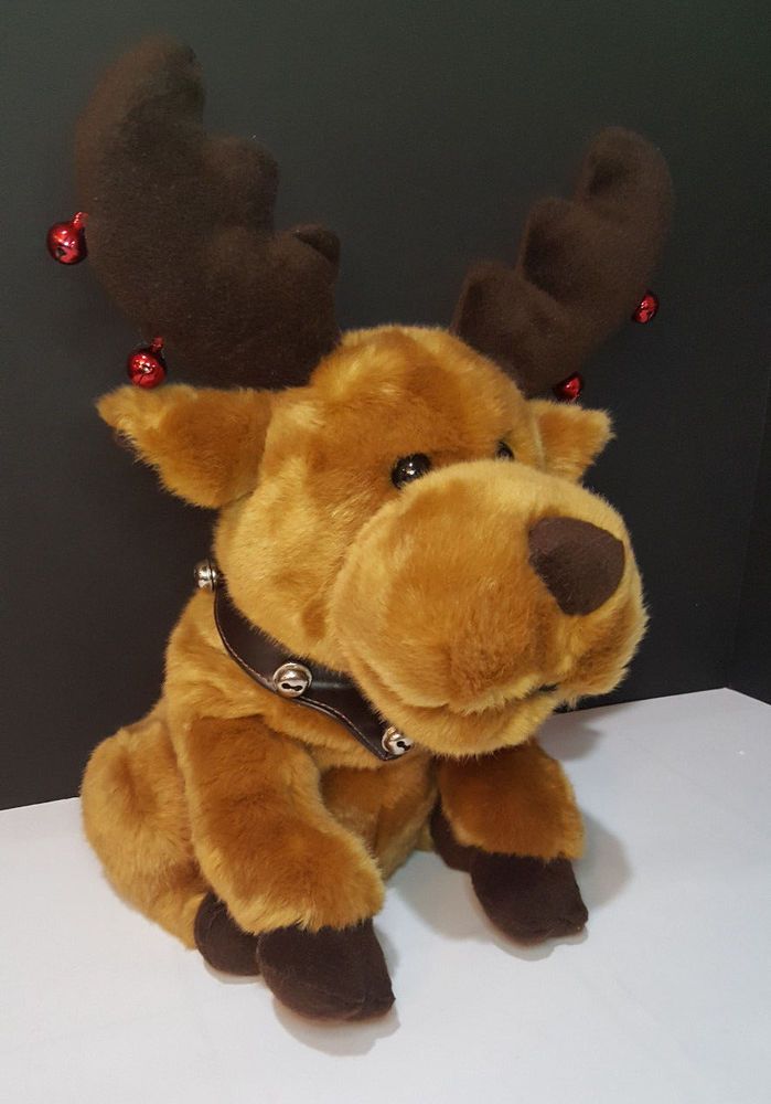 """Reindeer Bells Plush Singing Animated Motion """"We Wish You a Merry Christmas"""" Toy #Unbranded"""