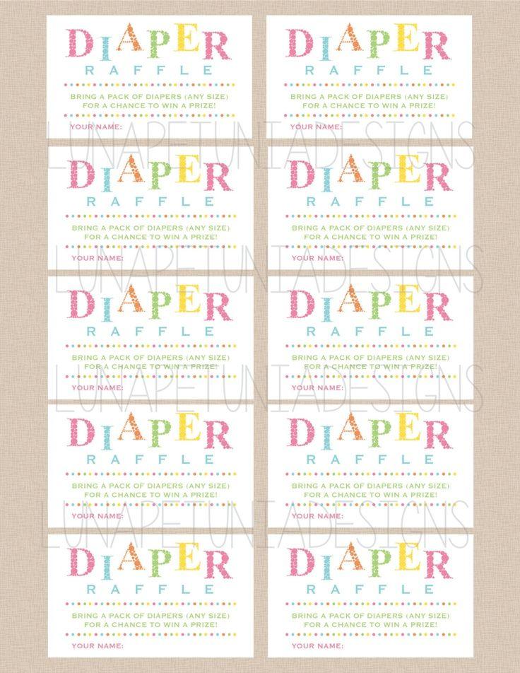 It is a photo of Fan Free Diaper Raffle Printable