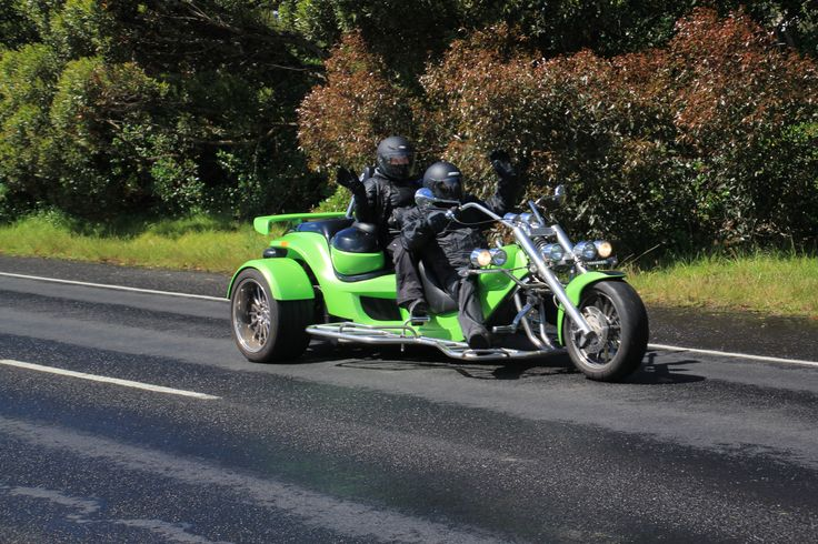 Part of the motorcycle cavalcade on to Phillip Island for MotoGP
