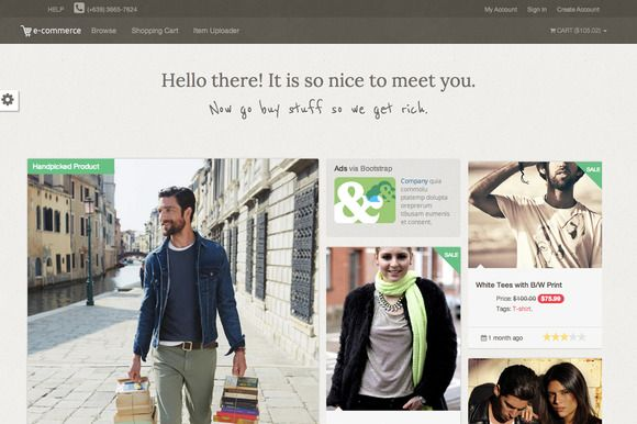 Check out Ecom - Online Shop Template by erwin on Creative Market