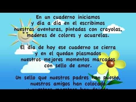 Poema para la graduación de Kinderr.mov - YouTube