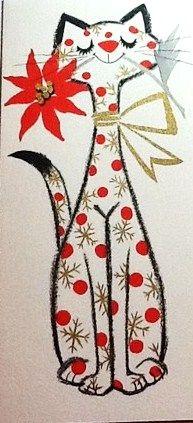 Poinsettia Pussycat aka Christmas Kitty Cat