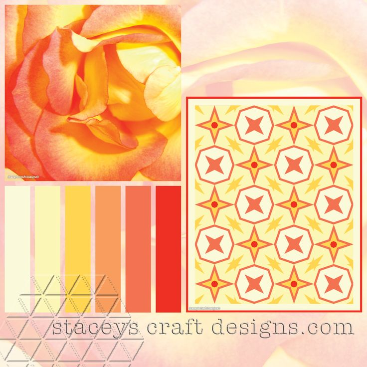 Colour Palette Yellow Rose by Stacey's Craft Designs