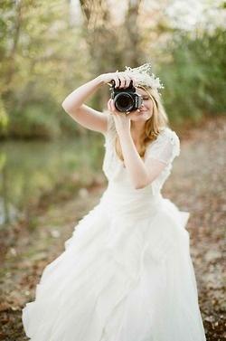 je serai du genre à prendre des photos moi-même à mon mariage !