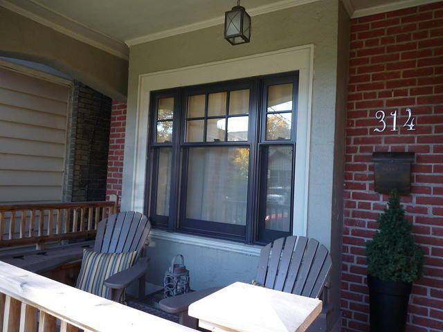 black double hung window in Toronto  Black Windows  Wood windows Craftsman windows House windows
