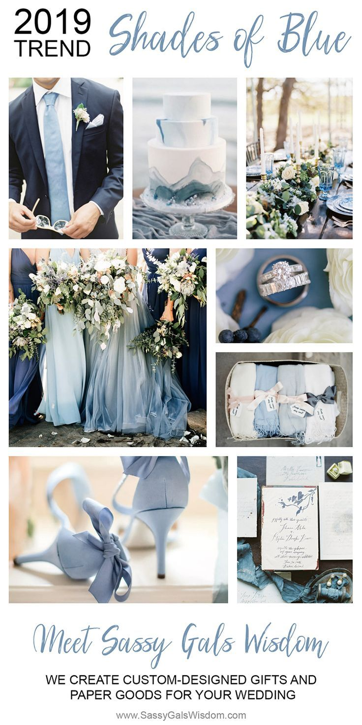 Shades Of Blue Wedding Decorations Wedding Flowers Wedding Colors