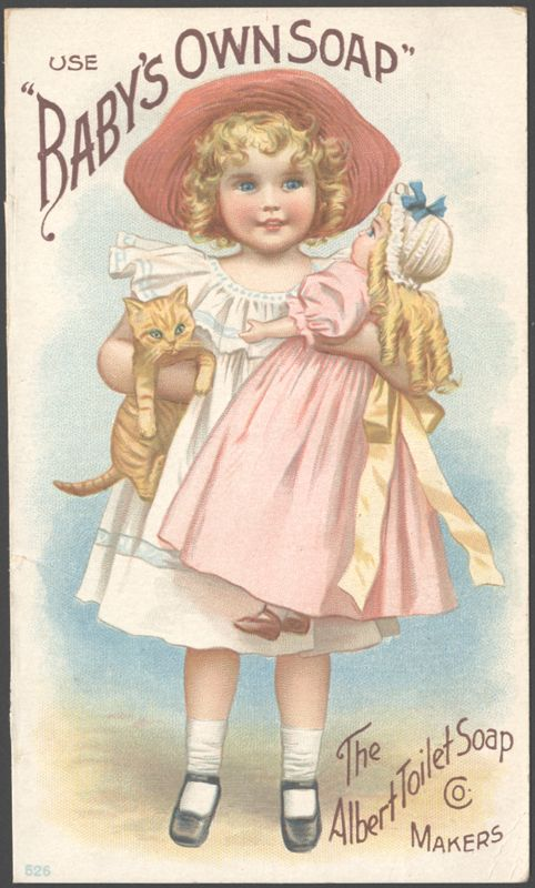 "Use ""Baby's Own Soap"" - Vintage advertising card, ca. 1895  My mom used this all her life, I am 74 and it wasn't until a month ago that I found out the fragrance for this soap is rosemary"
