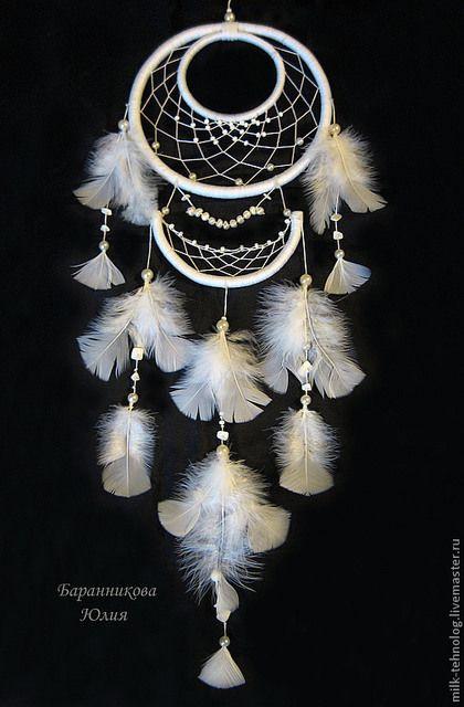 """Ловцы снов ручной работы. Ярмарка Мастеров - ручная работа. Купить Ловец снов """"Чистое сознание"""". Handmade. Белый, невеста"""