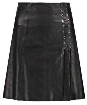 Plein Sud Falda De Cuero Black vestidos y faldas Sud Plein falda cuero black Noe.Moda