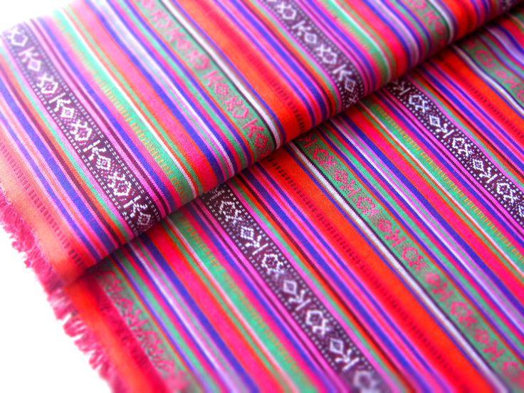 Mexikanischer Ethno Stoff - pink { Ikat Muster } von miss minty auf DaWanda.com