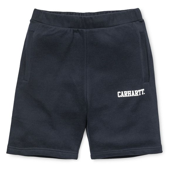 Carhartt WIP Sweat Short - Dark Navy / White