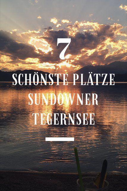 Schönste Plätze für den Sundwoner Tegernsee. Sonnenuntergang oder auch mal Sonneaufgang am See nur 50 km südlich von München, Bayern