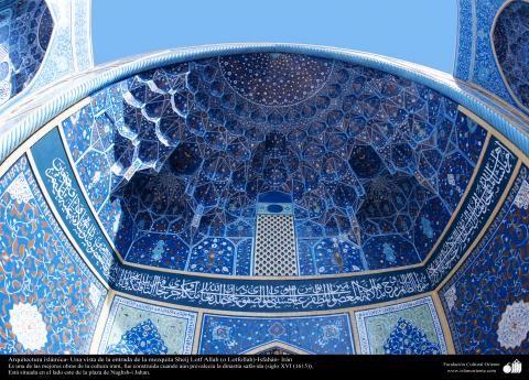 Arquitetura Islâmica - Muqarnas é um tipo de mísula empregado na decoração da arquitetura islâmica e persa tradicional - Mesquita Sheij Lotf Allah (o Lotfollah) - Isfahan Irã | Galeria de Arte Islâmica e Fotografia