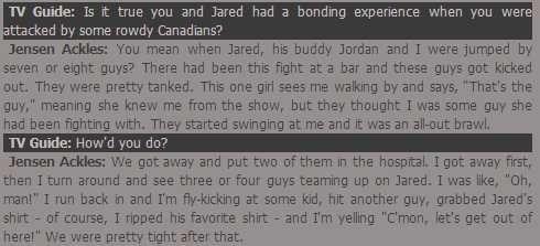 No, really. | Jensen Ackles And Jared Padalecki's Epic Bromance