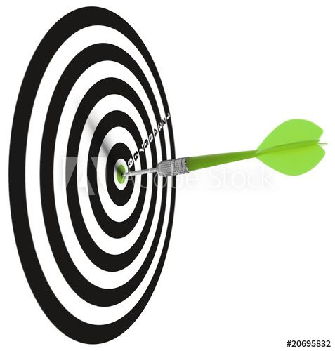 target dart hitting the center concept of goal or objective