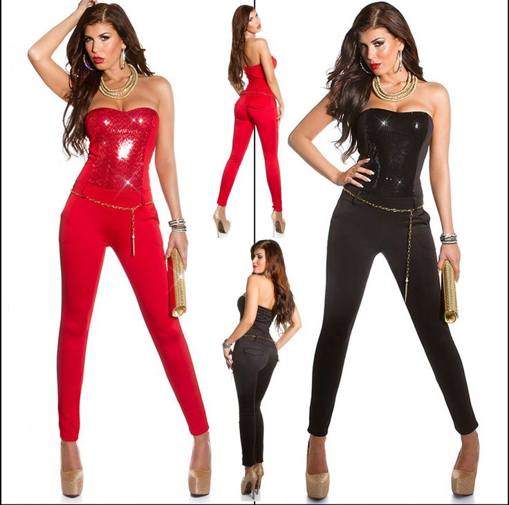 New Sexy Women Jumpsuit Ladies Playsuits Top Overall Skinny Jean Size 8 10 12 S  #MissFusion #Jumpsuit