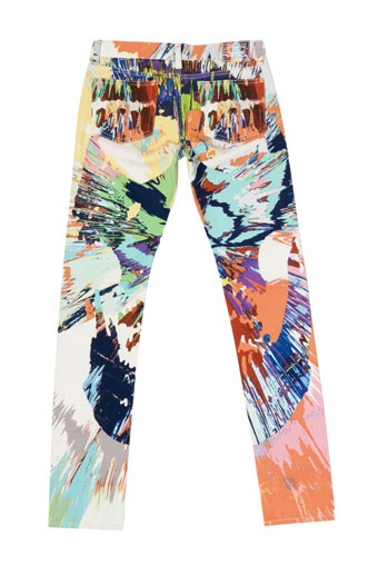 These hand painted jeans by Damian Hirst.