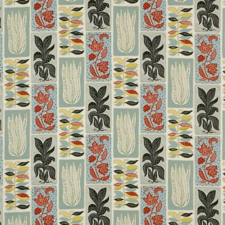 Seaweed Fabric Blue/Yellow DFIF220032, £39.00 (http://www.britishwallpapers.co.uk/seaweed-fabric-blue-yellow-dfif220032/)