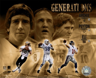 Archie, Peyton and Eli Manning!