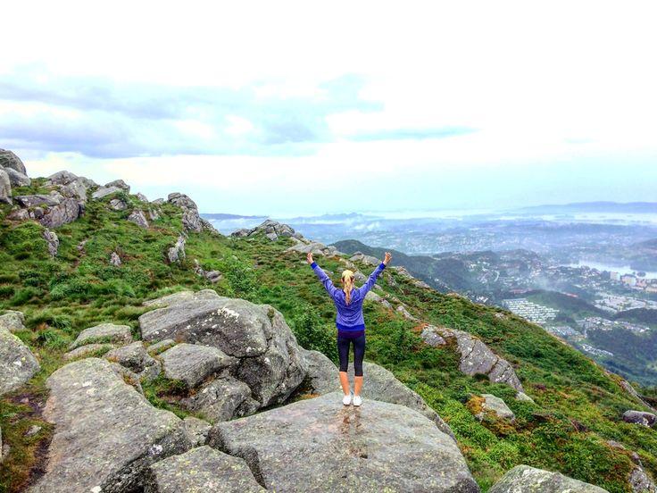 Bergen, Norway, Løvstakken, mountain, view, hiking, trekking, sporty
