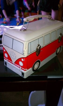 Vintage VW Happy Bus Lunch Box.  'Nough said.