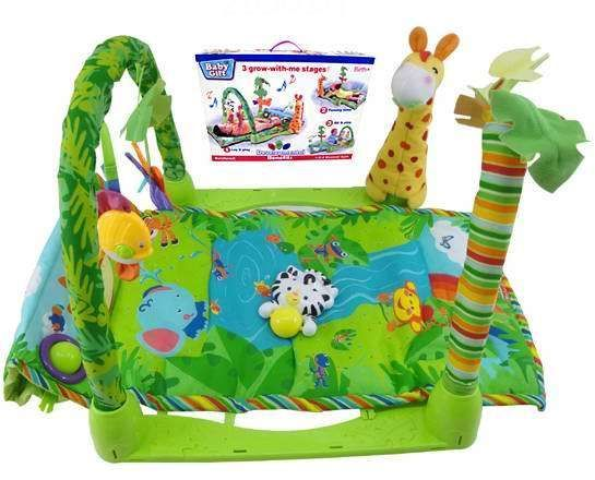 Tropical Jungle Rainforest Baby Play Gym Play Mat Musical