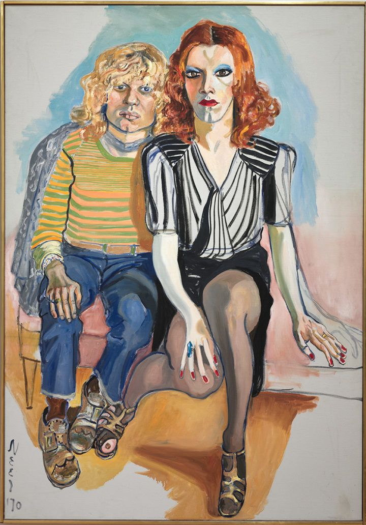 Alice Neel: Jackie Curtis ja Ritta Redd, 1970. The Cleveland Museum of Art, Leonard C. Hanna, Jr. Fund, 2009.345. Kuva: The Cleveland Museum of Art © Estate of Alice Neel