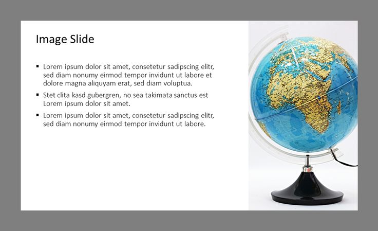 Support international topics by using our texxt image slide with a globe in your PowerPoint pressentation.