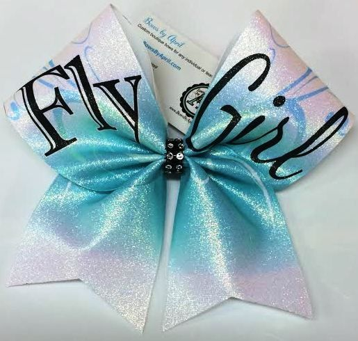 Bows by April - Fly Girl Flyer Glitter Cheer Bow, $18.00 (http://www.bowsbyapril.com/fly-girl-flyer-glitter-cheer-bow/)